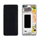 Samsung G973F Galaxy S10 LCD Display Module, Prism White, GH82-18850B;GH82-18835B