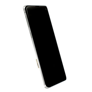 Samsung G973F Galaxy S10 LCD Display Module, Prism White/Wit, GH82-18850B;GH82-18835B