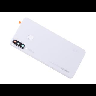 Huawei P30 Lite (MAR-L21) Accudeksel, Pearl White/Wit, 02352RQB