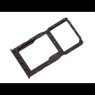 Huawei P30 Lite (MAR-L21) Sim + Memory Card Tray Holder, Midnight Black/Zwart, 51661LWL