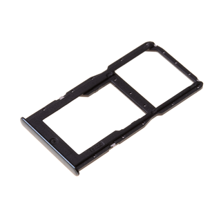 Huawei P30 Lite (MAR-L21) Sim- + Geheugenkaart Houder, Midnight Black/Zwart, 51661LWL