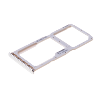 Huawei P30 Lite (MAR-L21) Sim- + Geheugenkaart Houder, Pearl White/Wit, 51661LWM