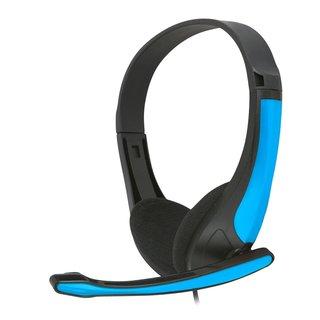 Freestyle Hi-Fi Stereo Koptelefoon + Microfoon Fh4088O Blauw/Zwart