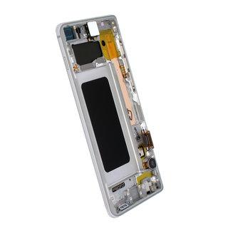 Samsung G975F Galaxy S10+ LCD Display Module, Prism White/Wit, GH82-18849B