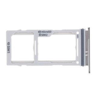 Samsung G975F Galaxy S10+ Sim- + Geheugenkaart Houder, Ceramic Black/Zwart, GH98-43724A