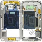 Samsung Mittel Gehäuse G925F Galaxy S6 Edge, Weiß, GH96-08376B [EOL]