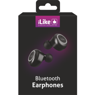 iLike Bluetooth Earbuds With Rechargeable Charging Case - IBE01- Black