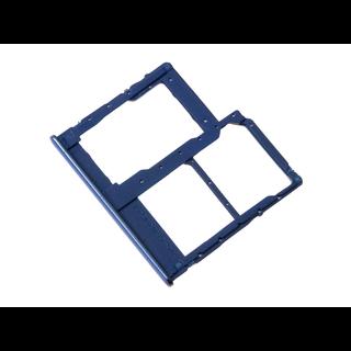 Samsung A405F/DS Galaxy A40 Sim- + Geheugenkaart Houder, Blauw, GH98-44303C