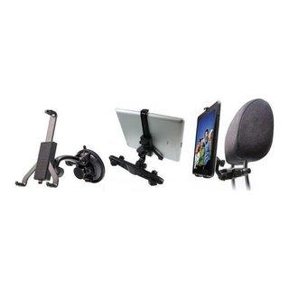 Universal 2-in-1 Headrest Tablet Car Holder from [Rebeltec] - Black
