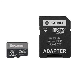 Platinet MicroSDHC Karte inklusive Adapter - Class10 - 32GB