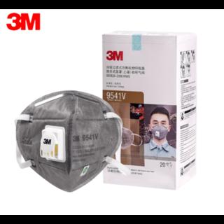 3M 9541V KN95 Gesichtsmaske mit Ausatemventil - Ohrbügel - 20 Pack