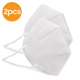 KN95 CE FFP2 Gesichtsmaske mit 4 Schichten - Ohrbügel - 2 Pack