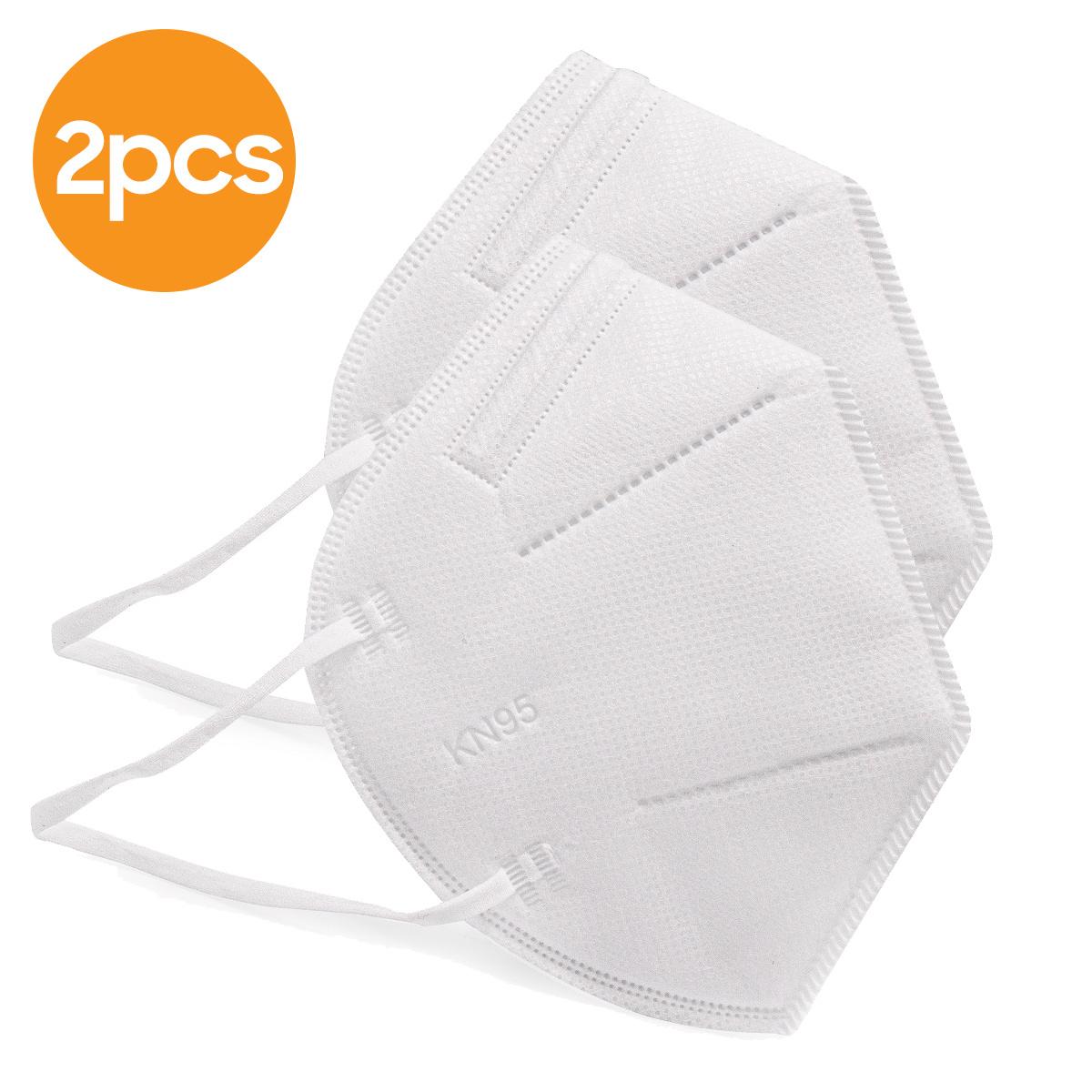 KN95 CE FFP2 Mondmasker met 4 lagen - Oorelastiek - 2 Pack
