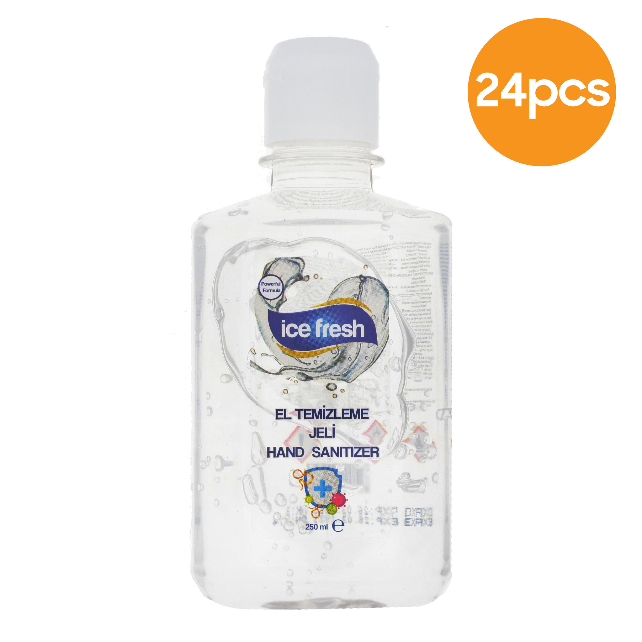 Ice fresh Hand gel Sanitizer with 80% alchohol - 250ml - 24 pack