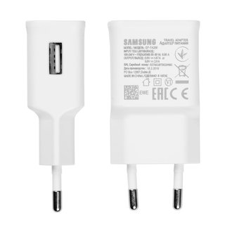 Samsung 15W USB Fast Charger, EP-TA200EWE, White, 9V, 1.67A, 5V-2A, GH44-03049A
