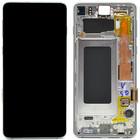Samsung G973F Galaxy S10 LCD Display Modul, Silber, GH82-18850G;GH82-18835G