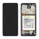 Samsung Galaxy A52 5G Display + Batterij, Awesome Violet/Paars, GH82-25229C;GH82-25230C