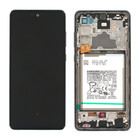 Samsung Galaxy A72 4G Display + Battery, Awesome Black, GH82-25542A;GH82-25541A