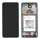 Samsung Galaxy A72 4G Display + Batterij, Awesome Blue/Blauw, GH82-25542B;GH82-25541B