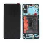 Huawei P30 New Edition Display + Batterij, Aurora Blue/Blauw, 02354HRH
