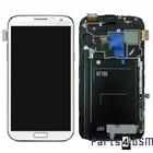 Samsung Galaxy Note 2 N7100 Intern Beeldscherm + Touchpanel Glas, Buitenvenster Raampje + Frame Wit GH97-14112A | Bulk vk4 r1