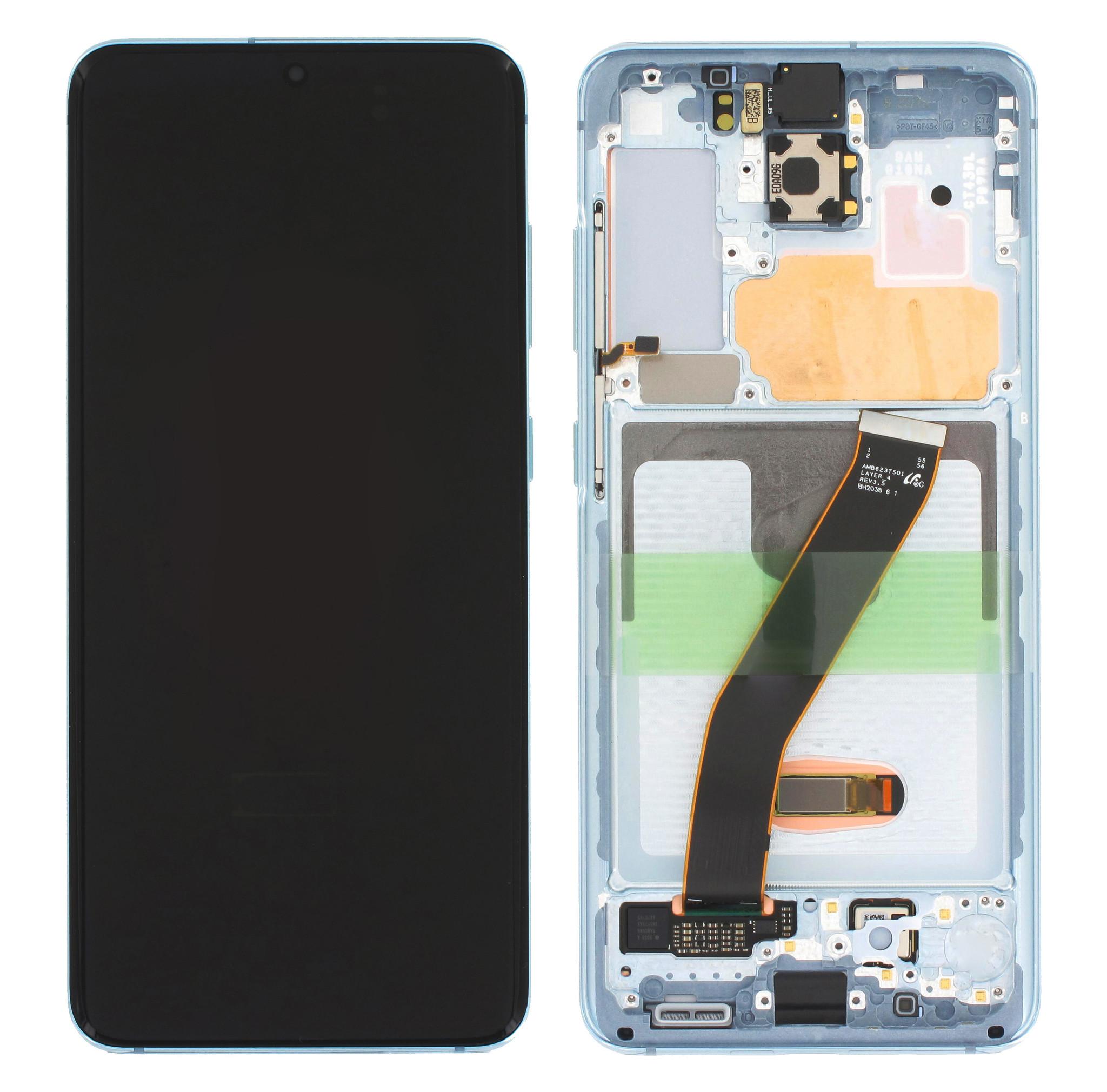Samsung Galaxy S20 5G Display, Cloud Blue, GH82-22123D;GH82-22131D