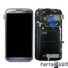 Samsung Galaxy Note 2 N7100 Intern Beeldscherm + Touchpanel Glas, Buitenvenster Raampje + Grijs GH97-14112B | Bulk vk4 r1