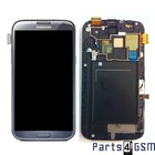 Samsung Galaxy Note II LTE N7105 Internal Screen + Digitizer Touch Panel Outer Glass + Frame Grey GH97-14114B | Bulk 4/3