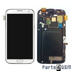 Samsung Galaxy Note II LTE N7105 Internal Screen + Digitizer Touch Panel Outer Glass + Frame White GH97-14114A | Bulk 4/3
