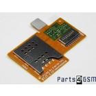 Sony Xperia Miro ST23i MicroSD + Simkaartlezer Connector Flex 312AFM26C0D | Bulk 6/4