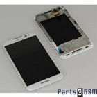 LG Optimus G Pro E985 Interne Beeldscherm (LCD)+ Touchscreen + Frame Wit ACQ86379202 | Bulk 7/5