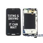 LG Optimus G Pro E985 LCD Display + Frame, Zwart,  ACQ86379201 [EOL]