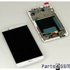 LG G2 D802 LCD Display + Touchscreen + Frame White ACQ86917702 | Bulk [EOL]