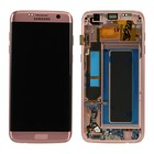 Samsung G935F Galaxy S7 Edge LCD Display Module, Pink Gold, GH97-18533E;GH97-18767E