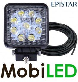 Lampe de travail carré 27W + câble de 4m E-mark