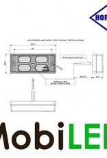 HORPOL Interieurverlichting Opaal Wit 12-24 volt met Schakelaar