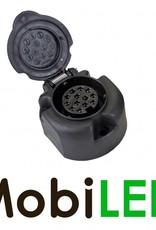 Stekkerdoos zwart Kunststof 13-polig Jaeger