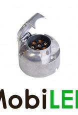 Stekkerdoos aluminium 7-polig