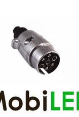 Stekker aluminium 7-polig voor aanhanger ISO 1724