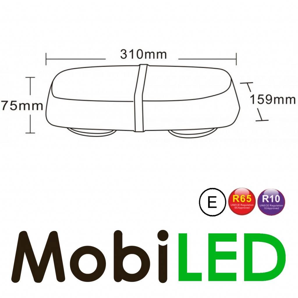 M-LED Flitsbalk 42 watt Amber E-keur magneet
