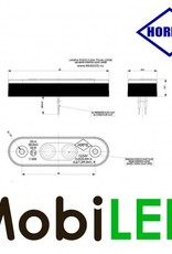 HORPOL Contourverlichting Amber platte/verzonken montage 12-24v E-keur