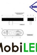 HORPOL Éclairage de contour Blanc assemblage plat/enfoncé 24v E-marque