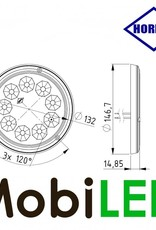 HORPOL Éclairage intérieur blanc avec interrupteur et position de gradation 12-24 volt