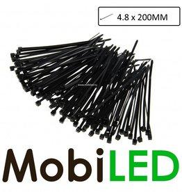 100x  (4.8mm x 200mm) Kabelbinders, tie-wraps, bundelbandjes
