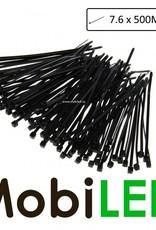 100x Liens de câble, tie-wrap, sangle de faisceau  (7.6mm x 500mm)
