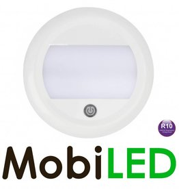 LED autolamps Interieurverlichting Opaal Wit 12-24v tiptoets rond