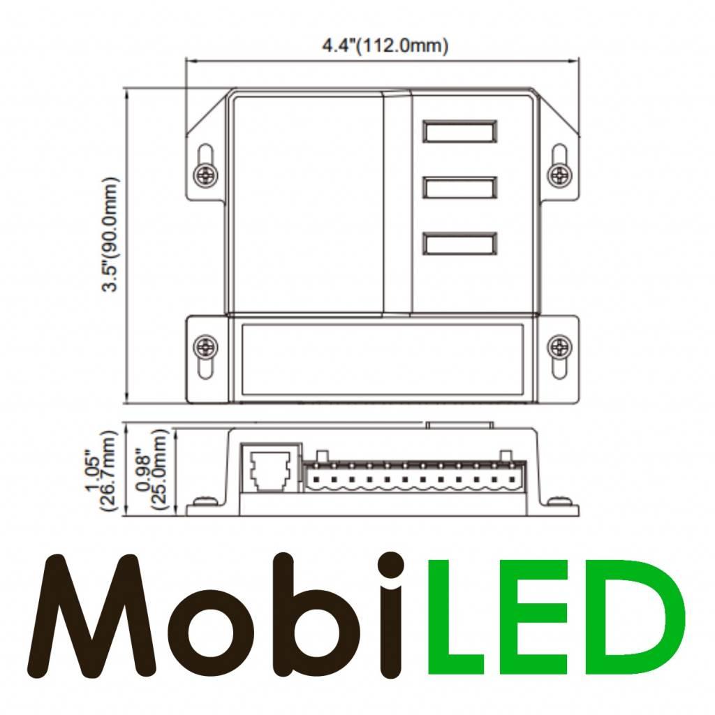 Digitaal schakelpaneel met verlichting en power unit