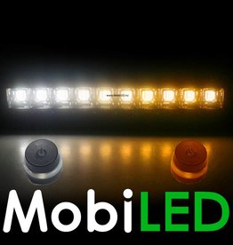 Adjustable Duo color light bar 120w  amber / wit  12 volt!
