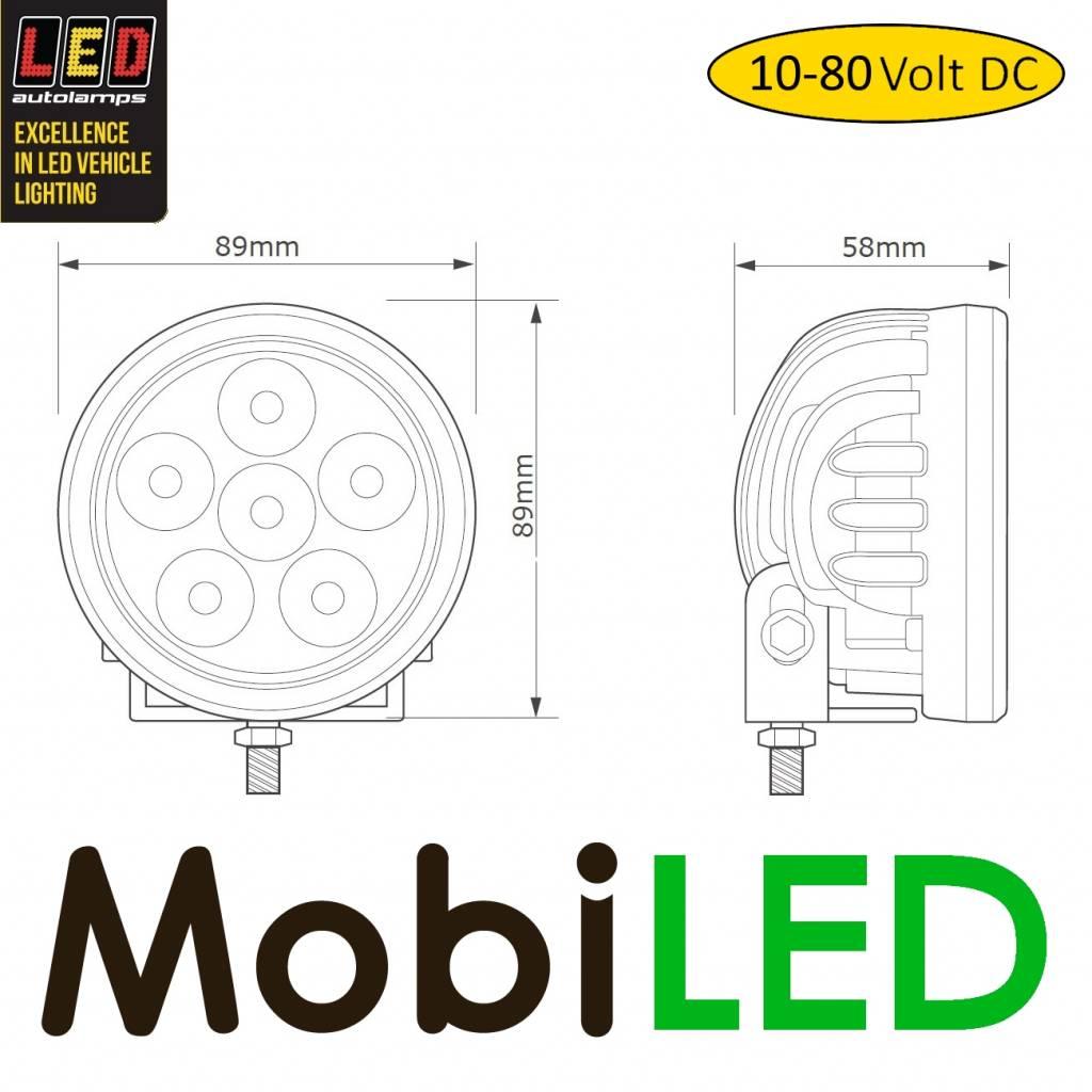 LED autolamps Lampe de travail pour chariot élévateur 10-80 volts DC 18 watt  rond