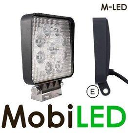 M-led M-LED 27w  Grafeen platte werklamp E-keur 4m kabel
